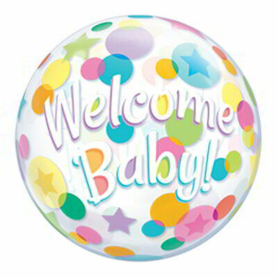 Welcome Baby - mit Ballons - Bubble