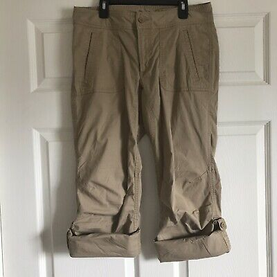 179ee10cb THE NORTH FACE Womens Khaki Cotton Roll Up Outdoor Hiking Capri ...