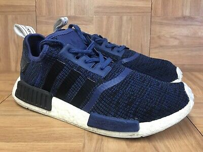 e78f5e4b7 RARE🔥 Adidas Originals NMD R1 Navy Blue Black White BY2775 Sz 10 Men s  Shoes