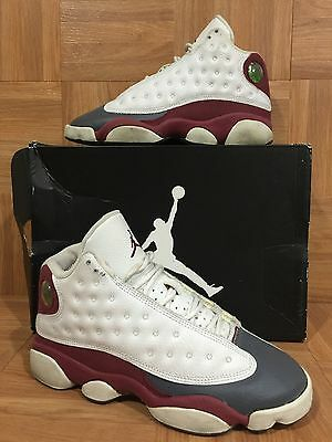 sale retailer 85aec df833 Boys🔥 Nike Air Jordan 13 XIII Retro White Team Red Flint Gray 4.5Y 310271