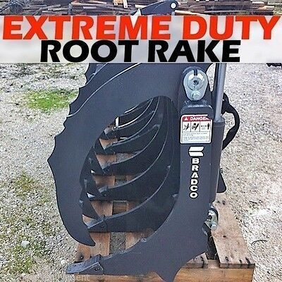 """Bradco 84"""" Extreme Duty Rake/Root Grapple,Fits Skid Steers,Also use as Scarifier"""