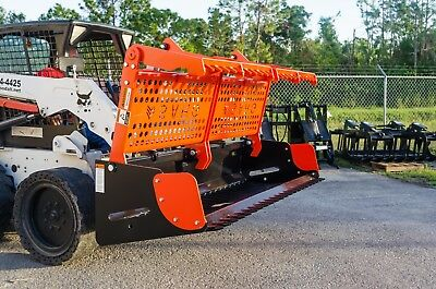 """Skid Steer 72"""" Sweep Action Grapple,Great For Landclearing,Rocks,Stumps,Logs"""