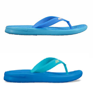 815914be3 NIKE FLIP FLOPS Solay Thong Sandals Blue White Print Women s 7-8-9 ...