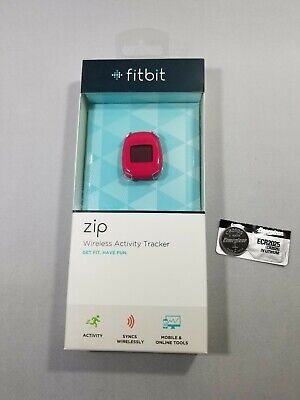 Fitbit Zip Wireless Activity Tracker - NEW IN BOX - RED with spare battery