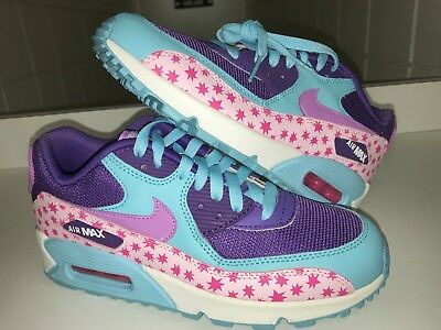 quite nice ca9f2 25a0d Nike Air Max 90 PREM Mesh GS Stars Youth Sz 6 Running Shoes Pink Blue