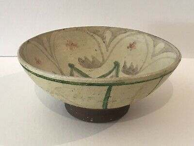 Ancient Antique Persian / Islamic Footed Bowl With Bird Design - Museum Quality.
