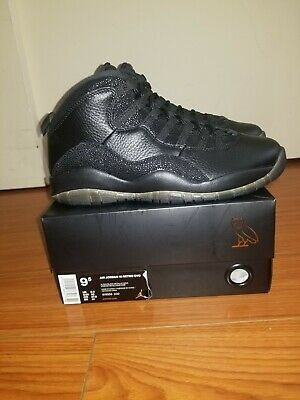 3cfc6640 2016 Nike Air Jordan 10 X Retro OVO SZ 9.5 Black Metallic Gold Drake 819955-