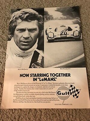 1971 PORSCHE 917 GULF Race Car Replica Metal Sign LeMANS Starring STEVE McQUEEN