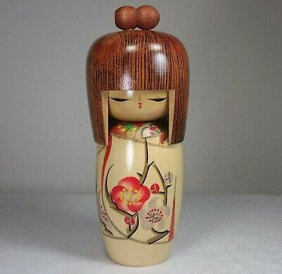 "15.5cm/181g Cute! Kokeshi Doll by ""Ko-jyo"". Japanese traditional crafts."