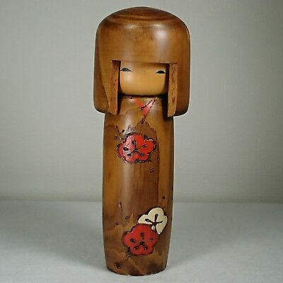 "18.5cm/223g Cute! Kokeshi Doll by""Usaburo Okamoto"". Japanese traditional crafts."