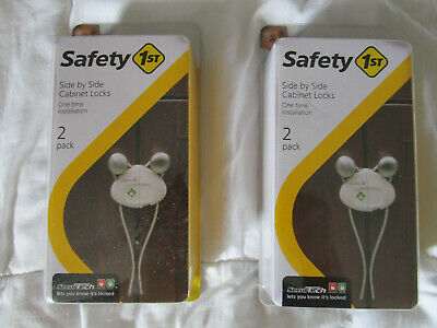 NEW Safety 1st Side by Side Cabinet Lock - (2) sets of 2 each (4 total)