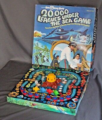 Walt Disney World 20,000 Leagues Under The Sea Board Game (1975) - 99% Complete