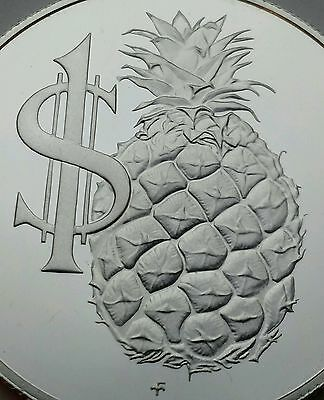 Cayman Islands 1 Dollar 1986 Proof. KM#74. .925 Silver coin. Pineapple 1000 only