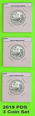 2019 PDS (3 coins) American Memorial Park  America the Beautiful (ATB)