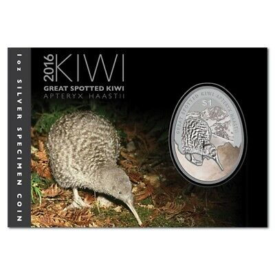 New Zealand - 2016 - Silver Dollar Specimen Coin - Kiwi - Egg Shaped Coin