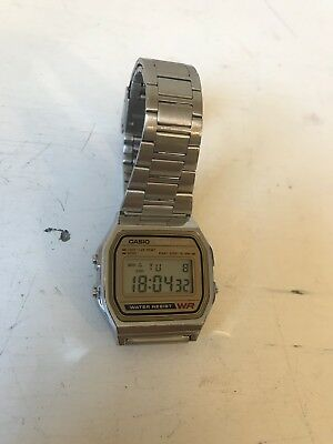 Casio A158WE Men's Classic Digital Stainless Steel Alarm Chrono Watch Vintage