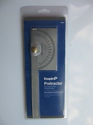 Empire 6 Inch Stainless Steel Protractor / Measure & Transfer Angles #27912