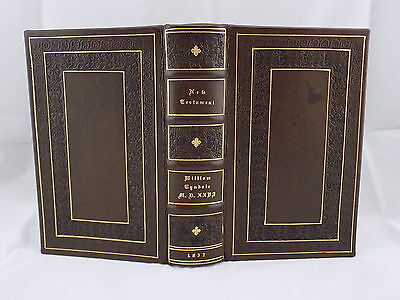 1837 / 1526  TYNDALE NEW TESTAMENT 1st Ed., ANTIQUE RARE LEATHER HOLY BIBLE VGC+