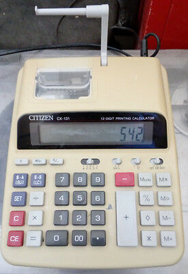 Maquina Calculadora De Sobremesa Citizen Cx-131 12 Digitos, Funciona