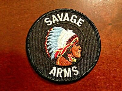 Savage Arms Indian Head Logo embroidered PATCH New Old Stock
