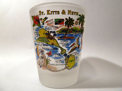St.kitts & Nevis Map Shot Glass Shotglass