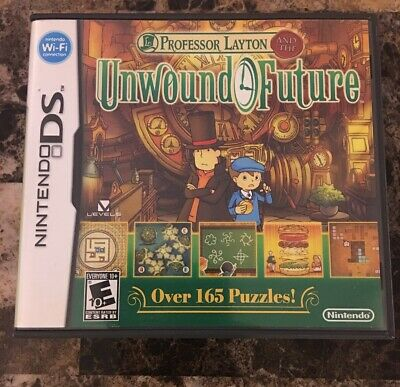 Professor Layton and the Unwound Future (Nintendo DS, 2010) Game, Case, Manual