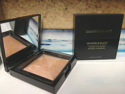 BareMinerals Invisible Glow Powder Highlighter in MEDIUM -NEW in box