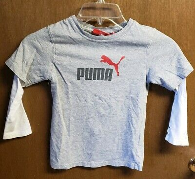(#51) Puma Boys Size 5t Long Sleeve Gray Shirt