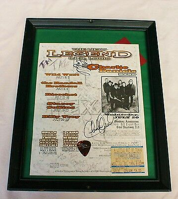 CHARLIE DANIELS BAND Autographed Billboard Flyer (5 AUTOGRAPHS!)