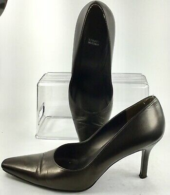 881d3a3611 Stuart Weitzman Pump Womens 10 B Dark Bronze Pointed Toe Slip On Heel Shoe  Spain