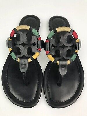 d56df0f5b TORY BURCH MILLER Yellow White  Multicolor Patent Leather Sandals ...