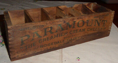 Vintage Wooden Paramount Cream Cheese Box