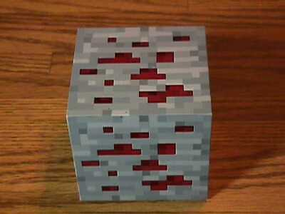 MINECRAFT LIGHT - UP REDSTONE ORE TAP ! for 3 Levels of Light By