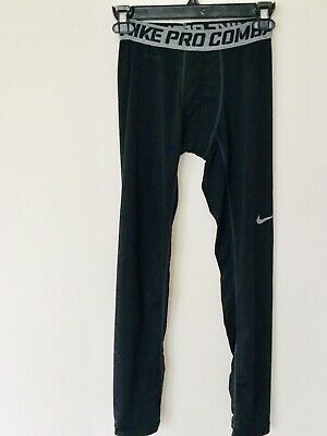 c3d075a304d4 NIKE Pro Combat Youth Boys Compression Tights Pants Full Length Black Large