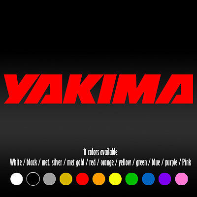 """8/"""" Yakima Die-Cut Vinyl Decal Sticker     20 Colors Available"""