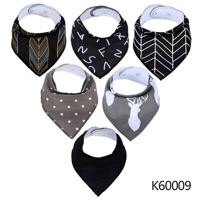 Baby Bibs Bandana Drool Bib 6 Pack by Cheraboo Gift Set Reversible & Soft UK
