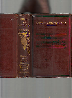 Music & M0Rals-Rev Haweis-Harpers 1871 Antiquarian With Campanology Section