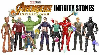 "Marvel Avengers Infinity War 6"" Action Figure With Infinity Stone Free Postage"
