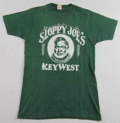 Vintage '80's SLOPPY JOES BAR Key West Florida Vacation Souvenir T Shirt Size S