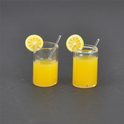 5x 1:12 Resin Dollhouse Mini Lemon Water Cup Miniature Dollhouse Accessories