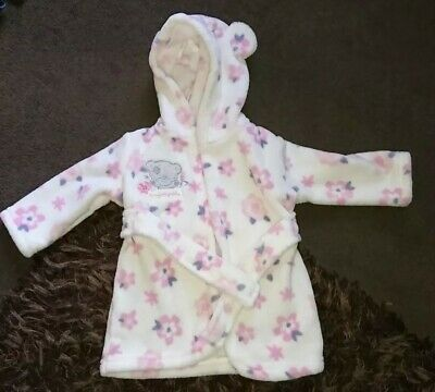 Baby Girls Tiny Tatty Teddy Dressing Gown Age 3-6 months