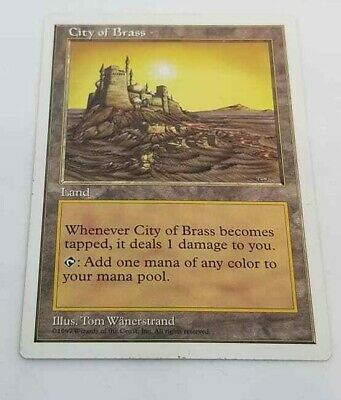 City of Brass Magic the Gathering 5th Edition MTG Rare NM Never Played