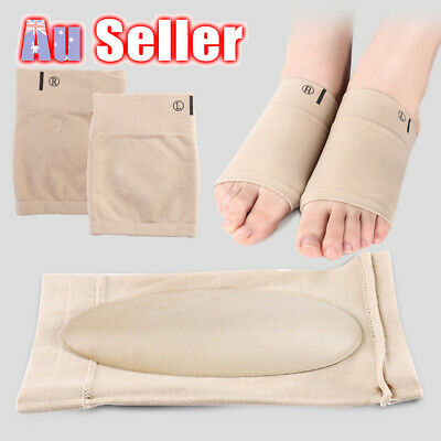 Silicon Support Insole Arch Flat Plantar Fasciitis Gel Relief Foot Pad Shoe Pain