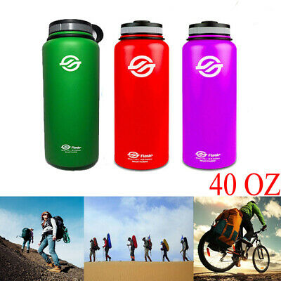 913a4936b5 40oz Outdoor Insulated Stainless Steel Sports Water Bottles Wide Mouth  Portable
