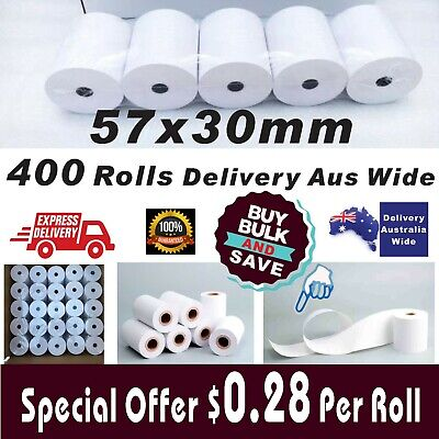 Bulk Deal 57x30mm Thermal Paper Rolls EFTPOS Cash Register Receipt Best Value