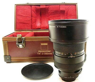 Zeiss 200mm f/2 Apo Sonnar T* MM MMJ lens Contax Yashica C/Y mount MINT-