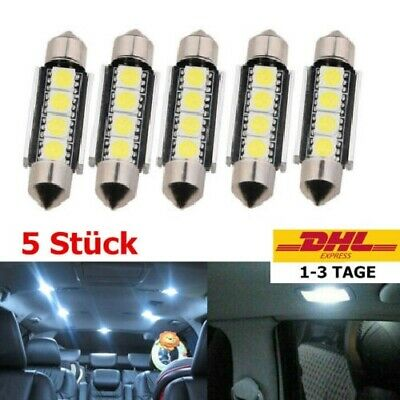 5x LED Canbus Soffitte 31mm 36mm 39mm 41mm 5050 SMD C10W weiß Innenraum Soffite
