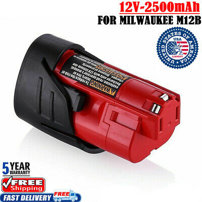 NEW FOR Milwaukee Red 48-11-2402 M12 C12B Lithium-ion 2.5AH Compact Battery Pack