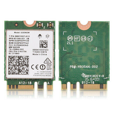 Wireless Intel Dual Band 8265NGW NGFF Wireless 867Mbps Wifi Card For Laptop