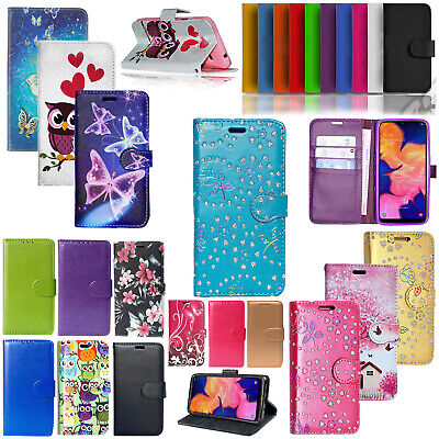 For Samsung Galaxy S10e S9 S8 Plus PU Leather Wallet Stand Flip Case Cover